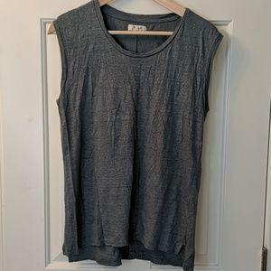 Madewell linen sleeveless shirt